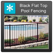 Home Black Flat Top Pool Fencing Blue X Norm