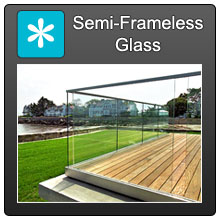 Home Semi Frameless Fencing Blue X Norm