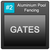 170 Aluminium Pool Blue Button 2 Gates