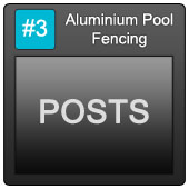 170 Aluminium Pool Blue Button 3 Posts