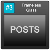 170 Frameless Blue Button 3 Posts