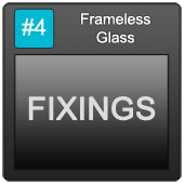 170 Frameless Blue Button 4 Fixings