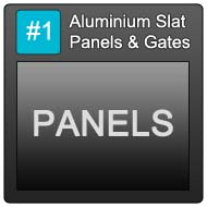 190 Aluminium Slat Panels Blue Button 1 Panels