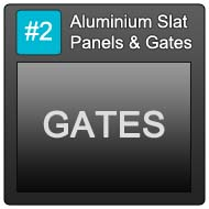 190 Aluminium Slat Panels Blue Button 2 Gates