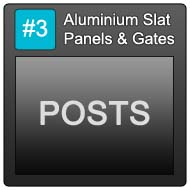 190 Aluminium Slat Panels Blue Button 3 Posts