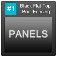 190 Black Flat Top Pool Blue Button 1 Panels