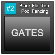 190 Black Flat Top Pool Blue Button 2 Gates