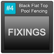 190 Black Flat Top Pool Blue Button 4 Fixings
