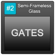 190 Semi Frameless Blue Button 2 Gates