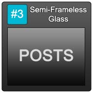 190 Semi Frameless Blue Button 3 Posts