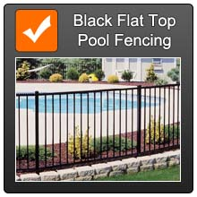 Cat Black Flat Top Pool Fencing Orange T Over